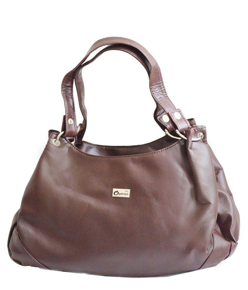Jgshoppe Brown Four Compartment Shoulder Bags