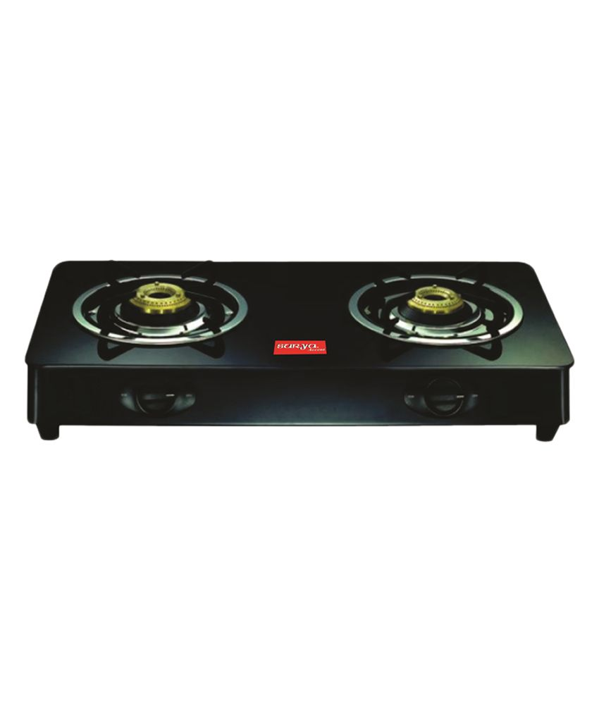 Flat Top Stove Prices Surya Accent Gas Stove Glass Top Black 2 Burner Mini Price In