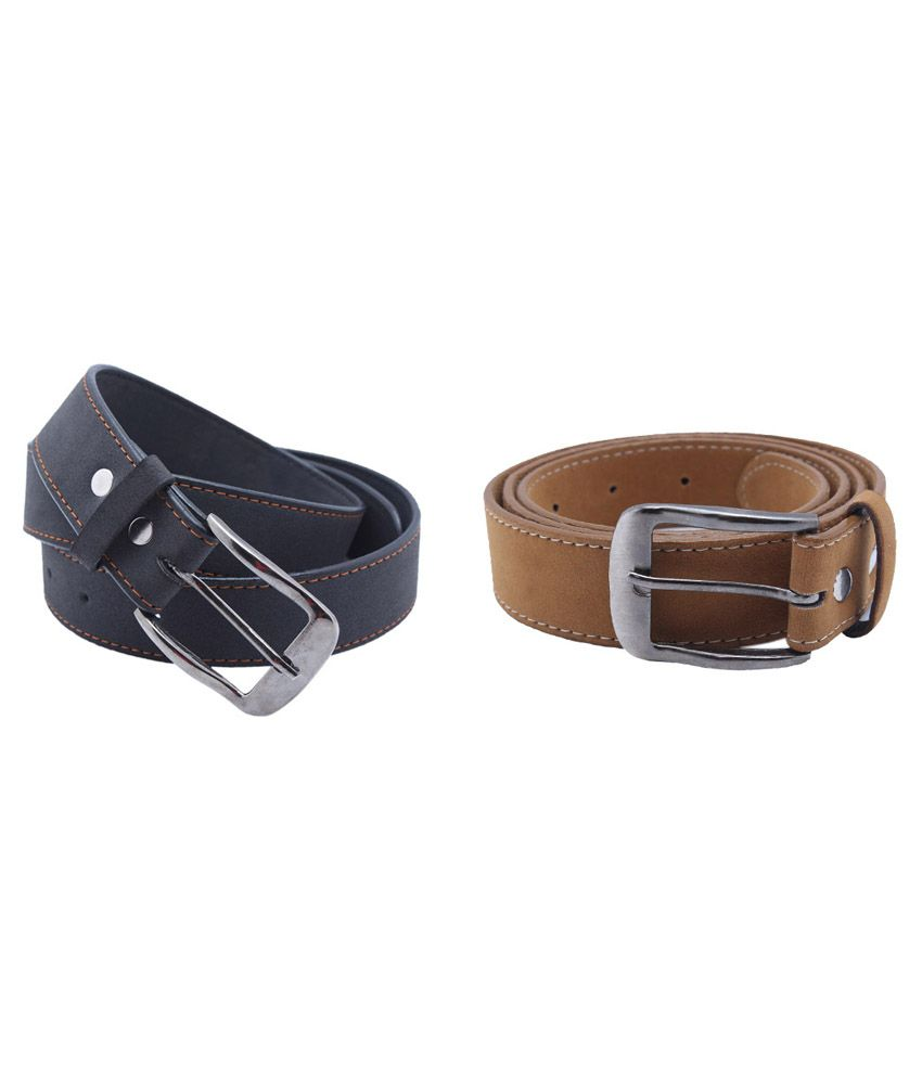 Taboo set of 2 Multicolor Pin Buckle Synthetic Belt