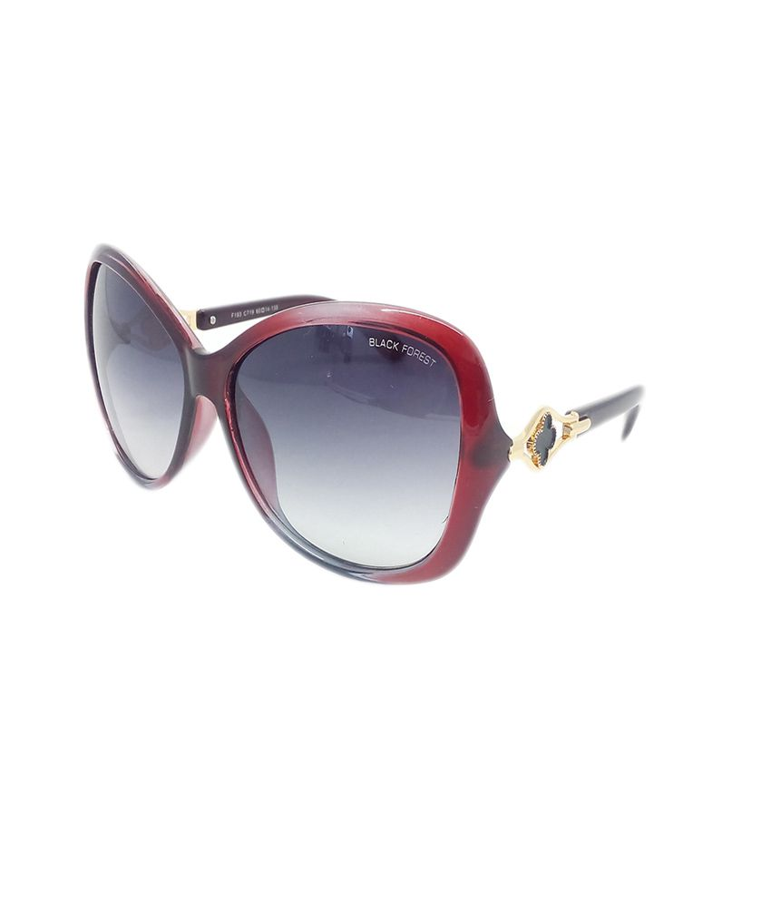 Black Forest Black Non Metal Casual Sunglasses For Women