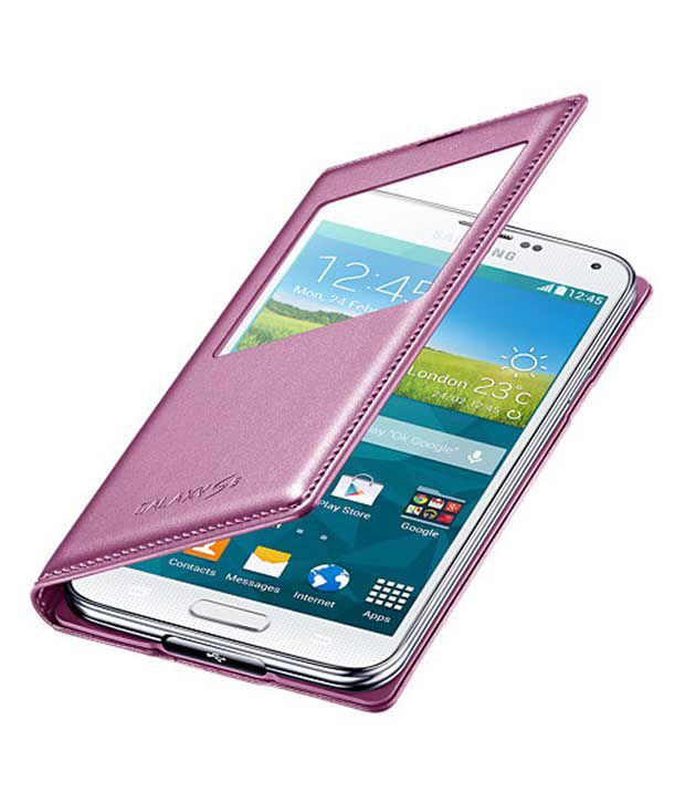the latest 49d83 ed665 Samsung Flip Cover for Samsung Galaxy S5 (pink)