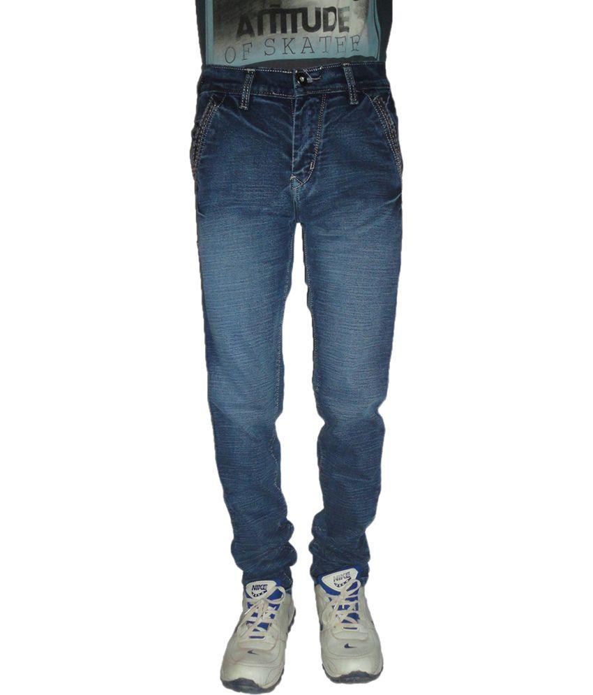 Denim Fashion Blue Cotton Regular Fit Jeans