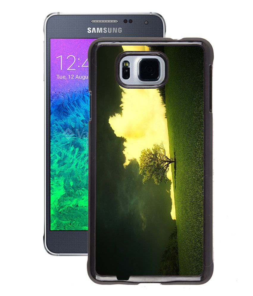 Fuson Printed Nature Wallpaper Back Cover For Samsung Galaxy Alpha