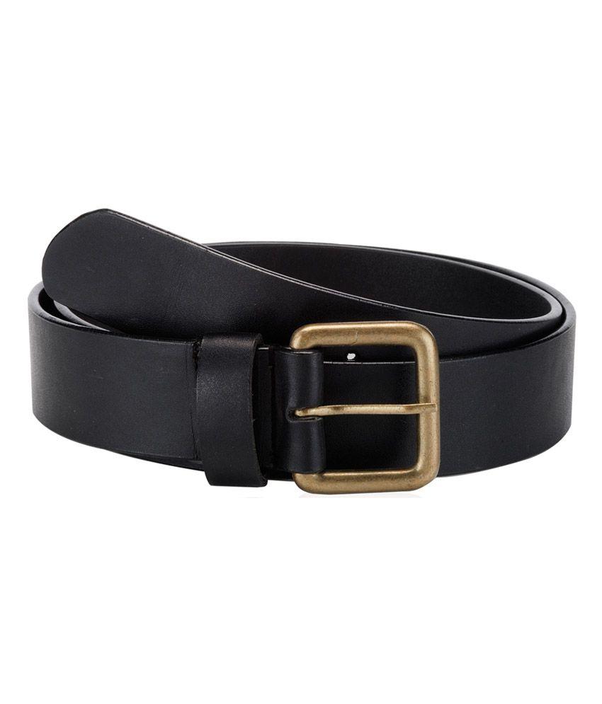 orkee casual black genuine leather belt black buy