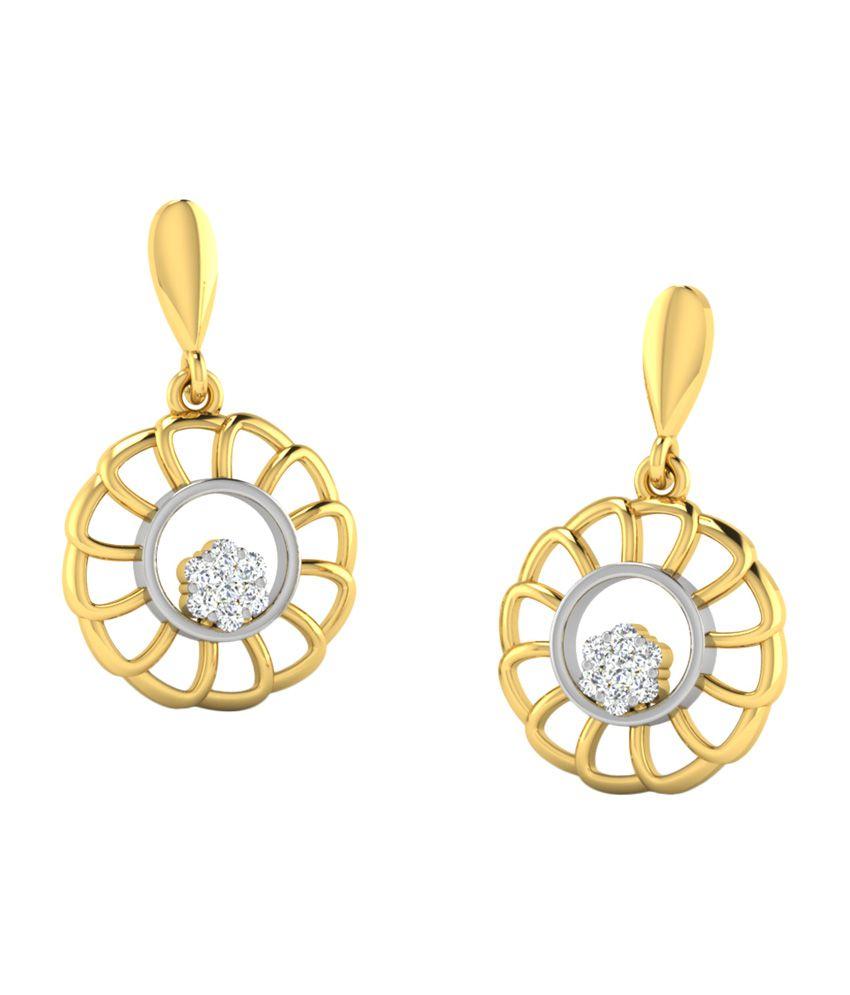 Sparkles 0.1 Ct Diamond Earrings in 18kt Gold T50009