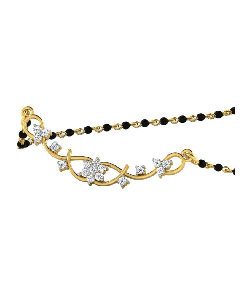 Sparkles 0.17 Ct Diamond Mangalsutra in 18kt Gold N10476