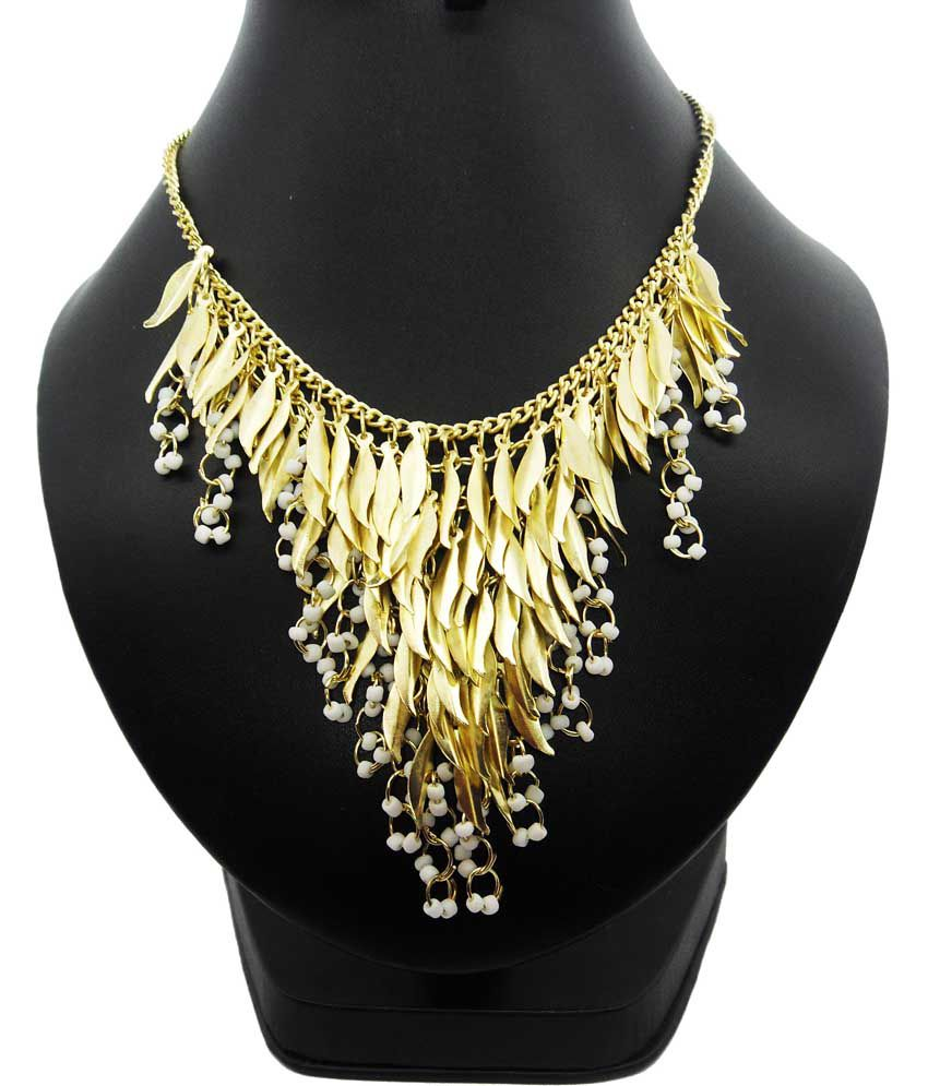 9448fba980 Bling N Beads Golden Designer Fashion Jewellery Necklace For Her - Buy  Bling N Beads Golden Designer Fashion Jewellery Necklace For Her Online at  Best ...