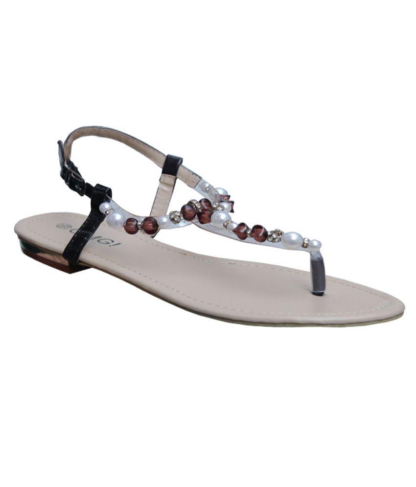 Season Footwear Black Sandal