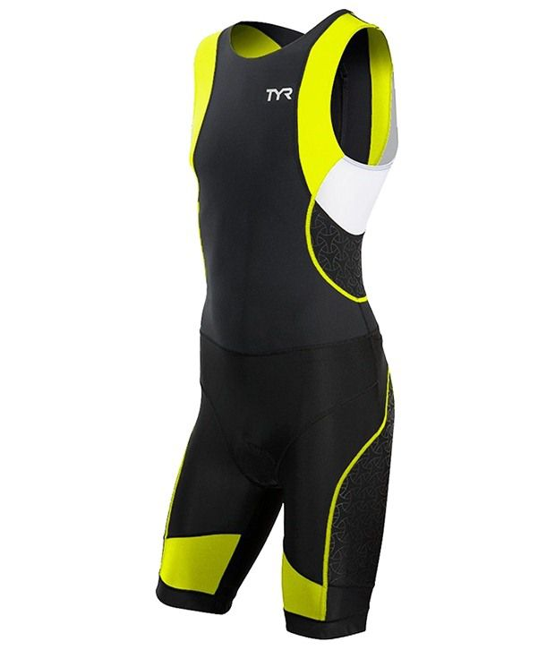 TYR Mens Competitor Tisuit W/ Back Zipper Black/lime/Blue 36702499927