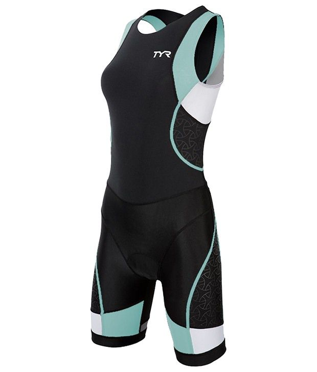 TYR Womens Competitor Tisuit W/ Back Zipper Black/Lt Blue 36702429160