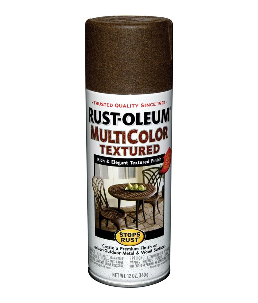 Buy Rust Oleum Stops Rust Multicolor Textured Spray Paint Color Autumn Brown Online At Low