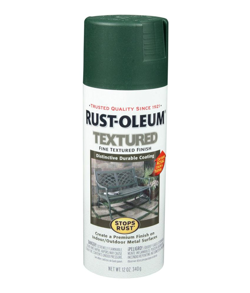 Buy Rust Oleum Stops Rust Textured Spray Paint Color Forest Green Online At Low Price In India