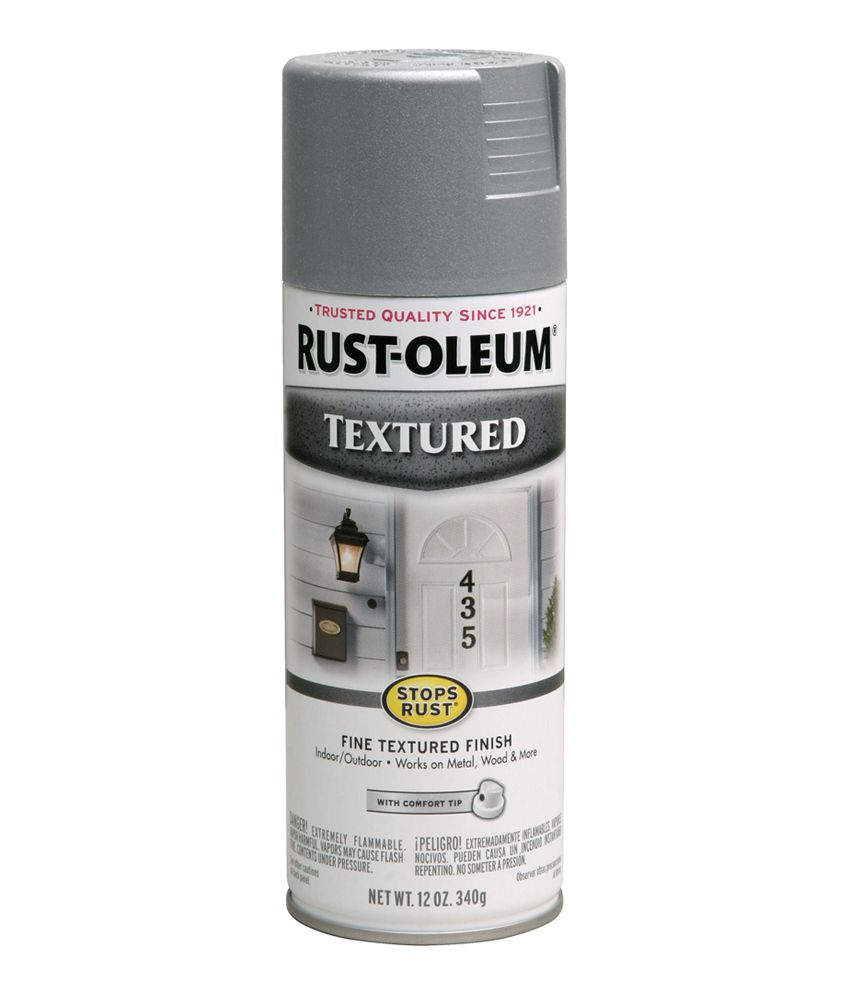 Rust-oleum Stops-rust Textured Spray Paint, Color: Nickel  available at snapdeal for Rs.474