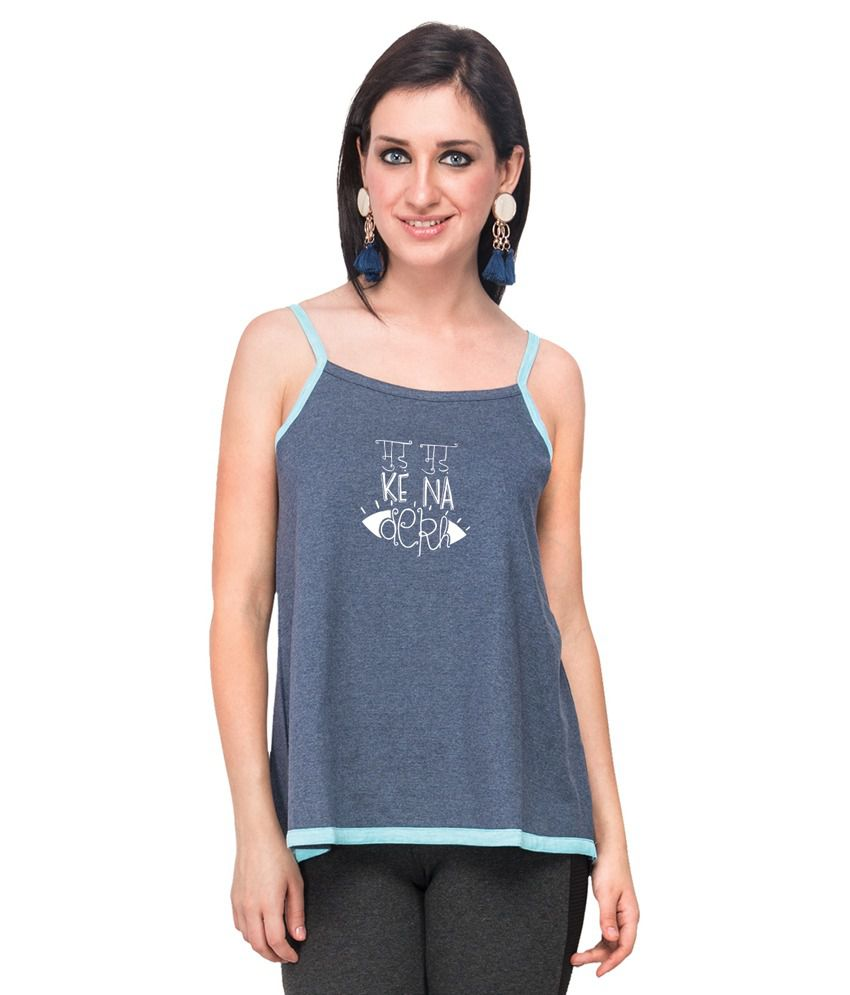 Buy Campus Sutra Blue Printed Long Spaghetti Mud Mud Ke Online at Best Prices in India - Snapdeal