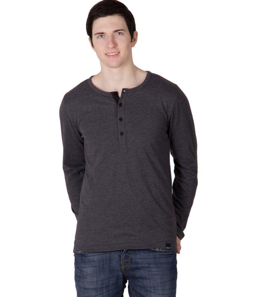 Rigo Grey Cotton T Shirt