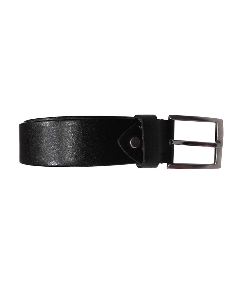 SMT Black Leather Pin Buckle Formal Belt for Men