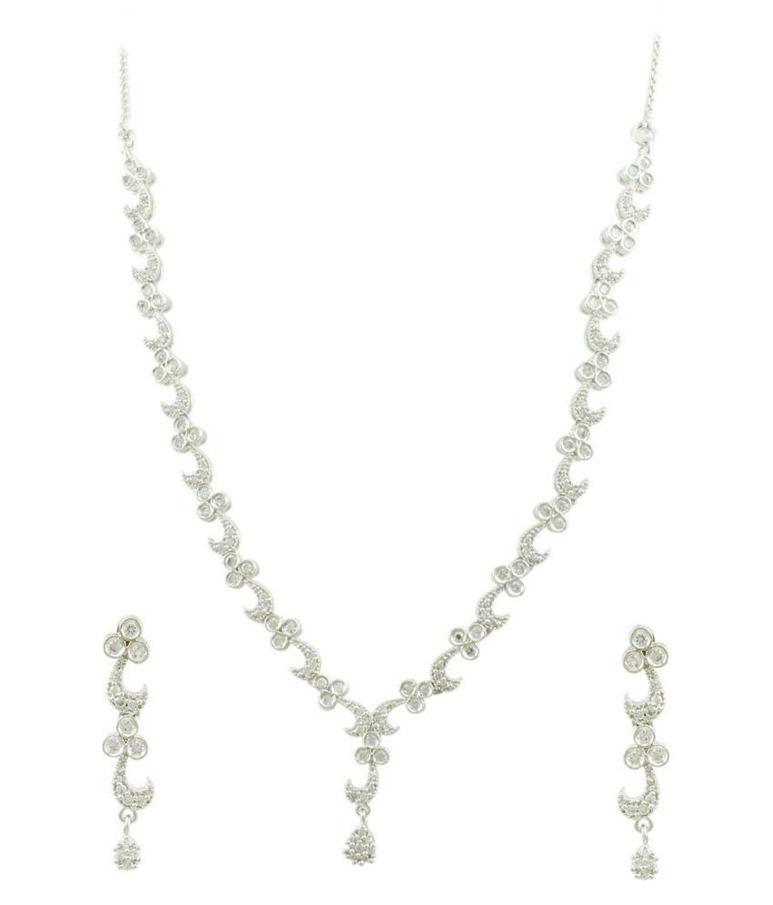 Orniza Creative Cubic Zirconia Necklace Set