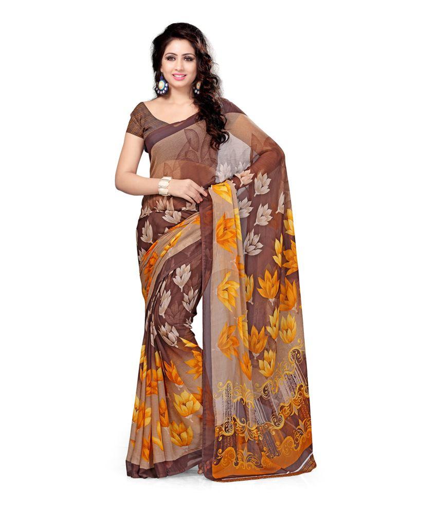 9a135094e88212 Vaamsi Multi Color Pure Chiffon Saree - Buy Vaamsi Multi Color Pure Chiffon  Saree Online at Low Price - Snapdeal.com