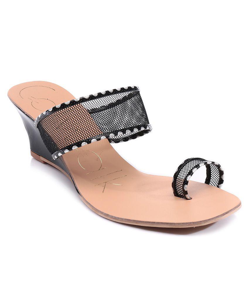 9df7f8420 Catwalk Black Heeled Slip-On Price in India- Buy Catwalk Black Heeled Slip-On  Online at Snapdeal
