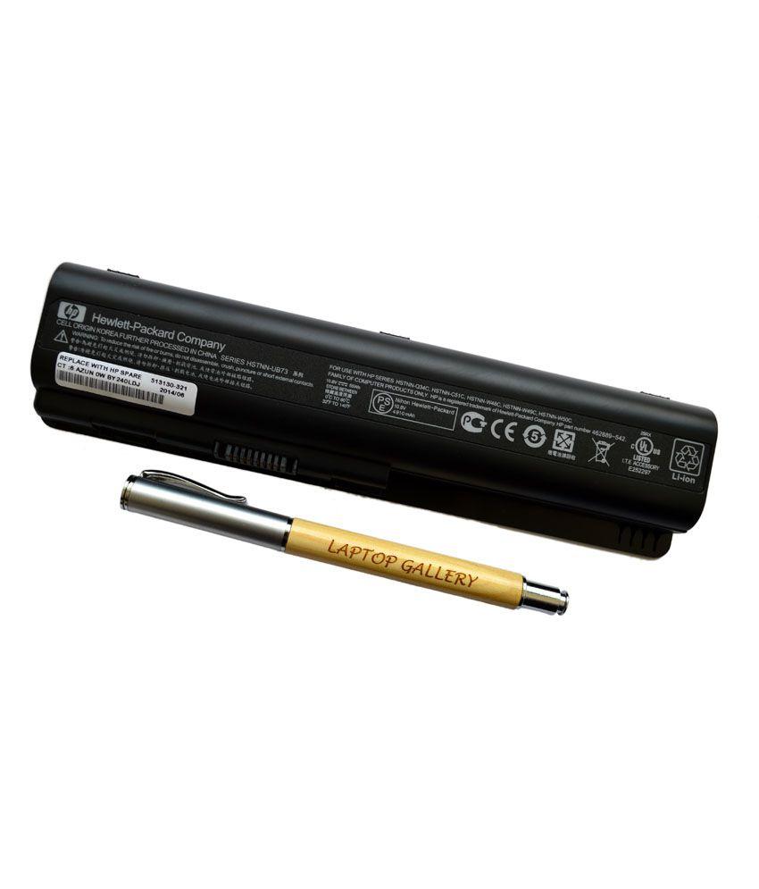 HP Genuine Original Laptop Battery For Pavilion Dv5-1199eg With Clean India Wooden Pen