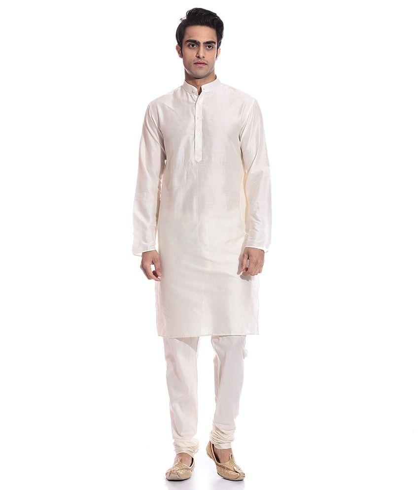 new concept d6043 924a0 TAG 7 Cream Kurta Pyjama