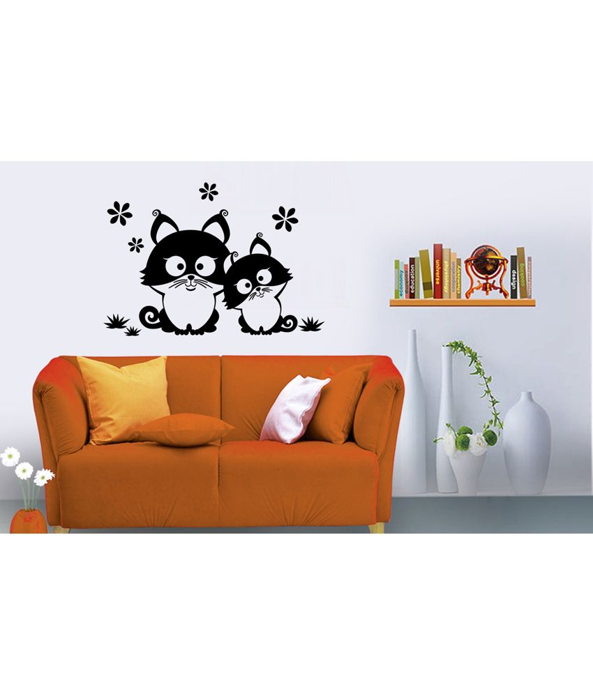 Snapdeal Wall Decor Items : Hoopoe decor wall stickers black buy
