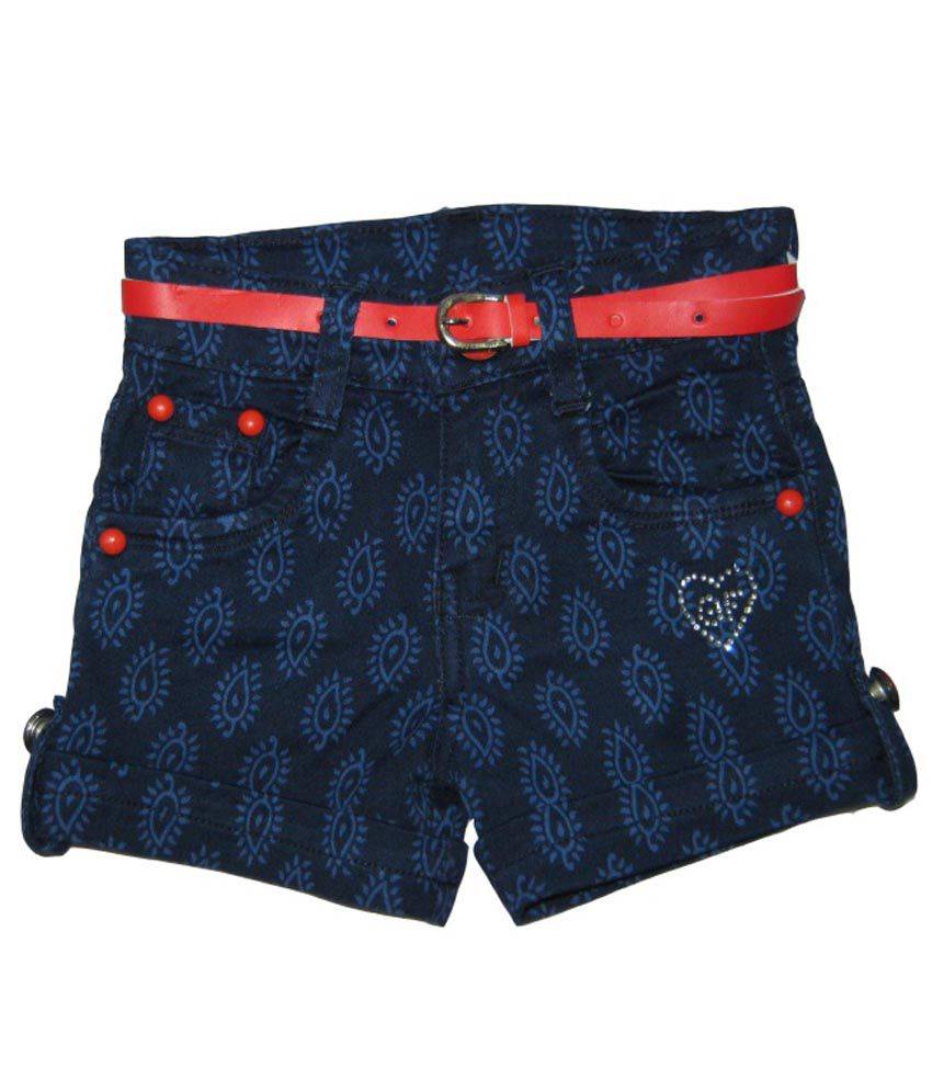 Kandy Kids Navy Cotton Shorts