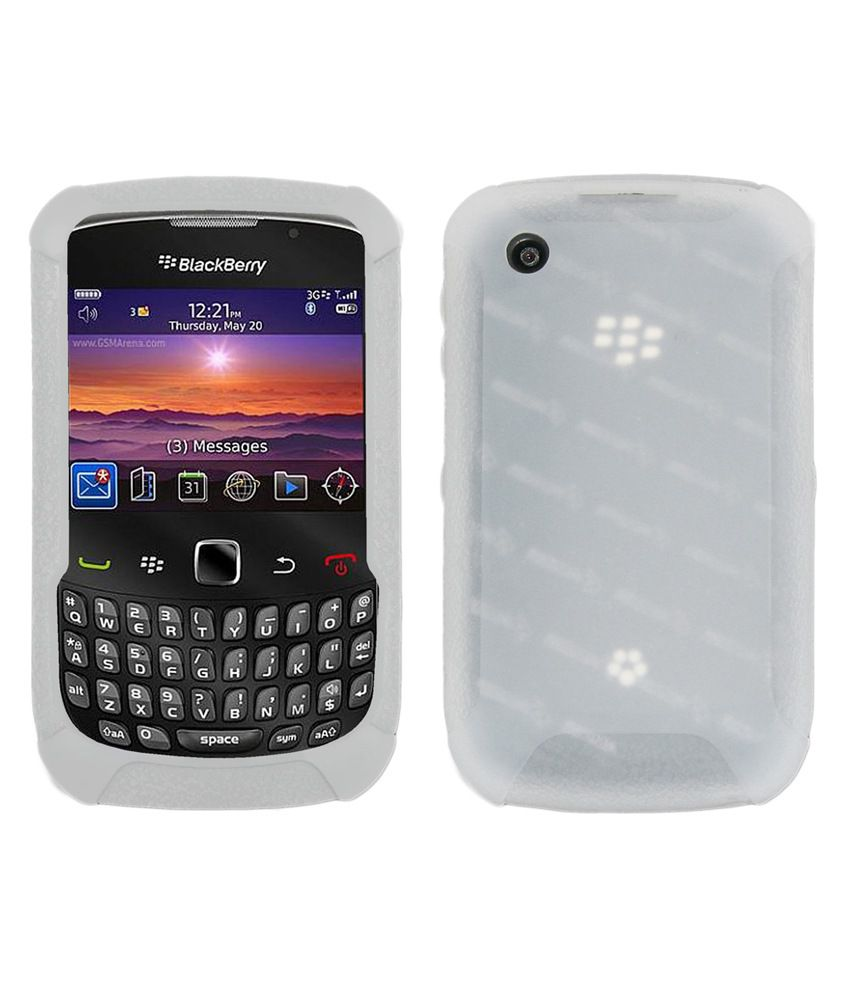super popular aee92 89774 Amzer Jelly Skin Back Cover for BlackBerry Curve 3G 9300 - White