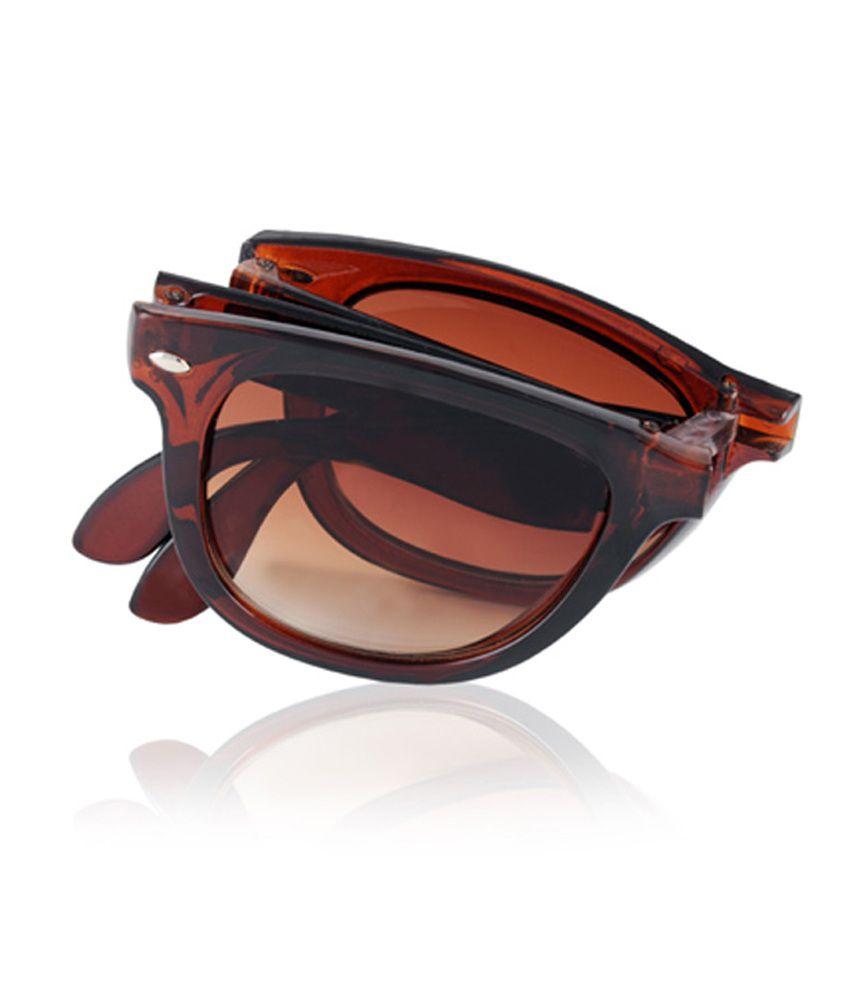 Aoito Brown Pocket Wayfarer Sunglasses