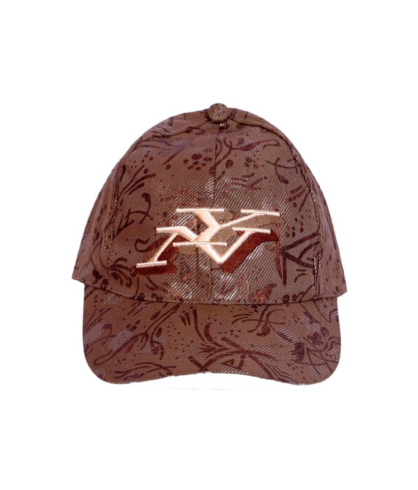 Macrobian Charming Brown Baseball Cap For Men