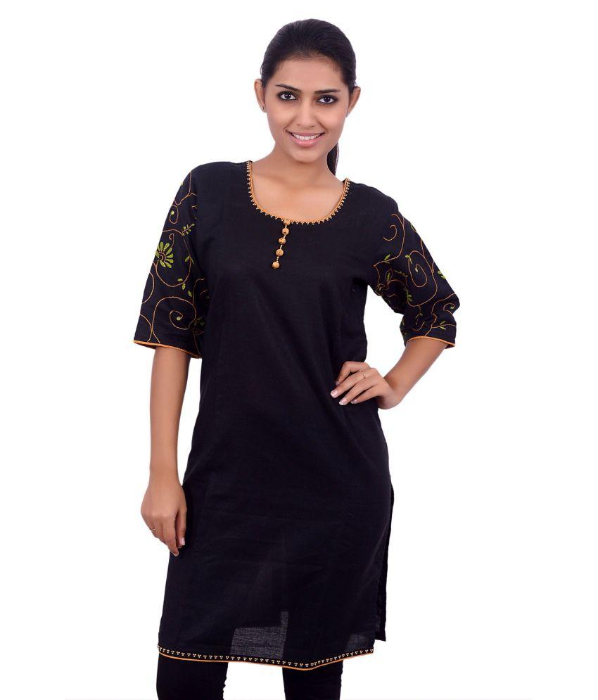 Manishas Black Linen Kurti