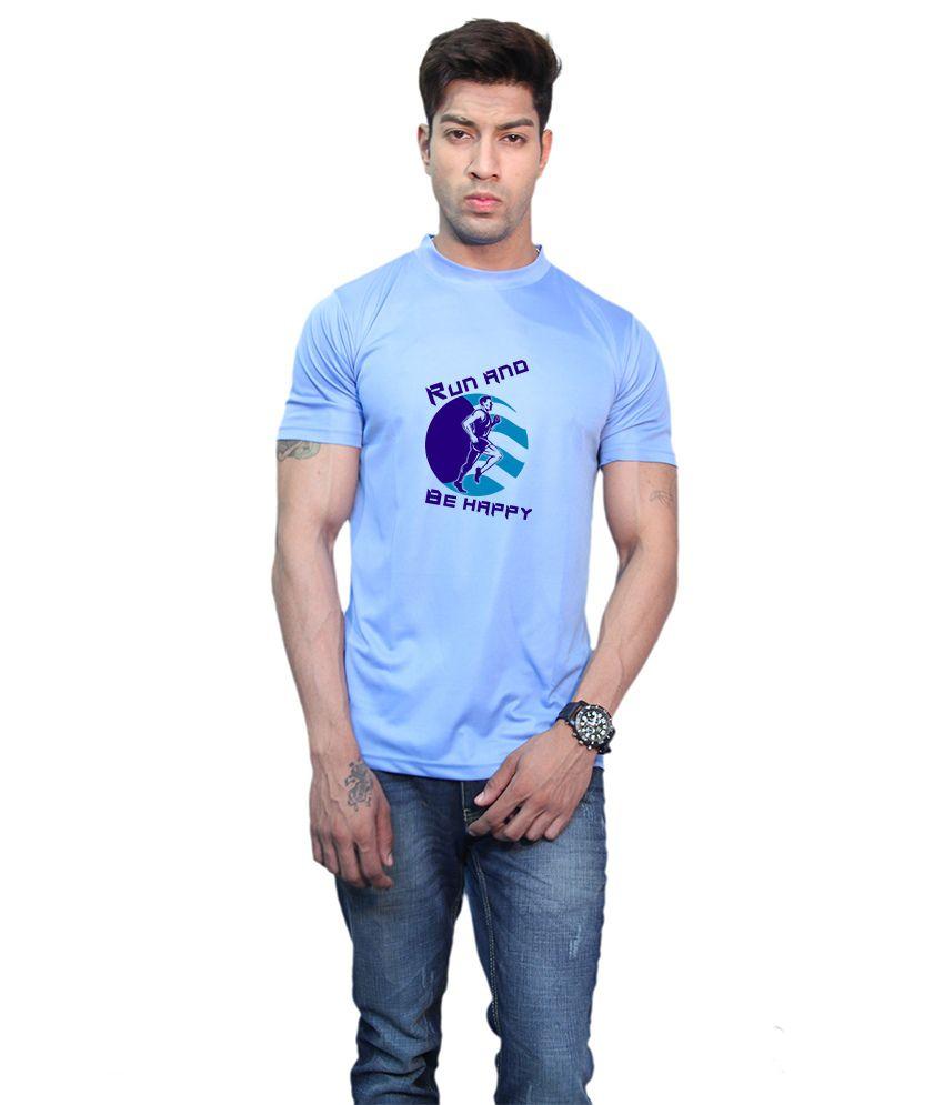 Printland Effit Be Happy Blue T Shirt