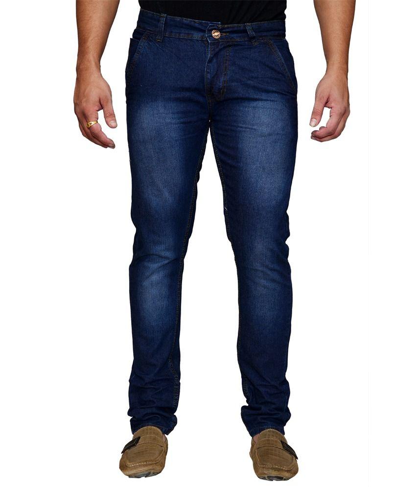 Shade-X Blue Regular Cotton Men Jeans