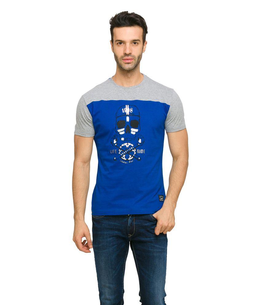 Status Quo Men's Multi Coloured Casual T-Shirt