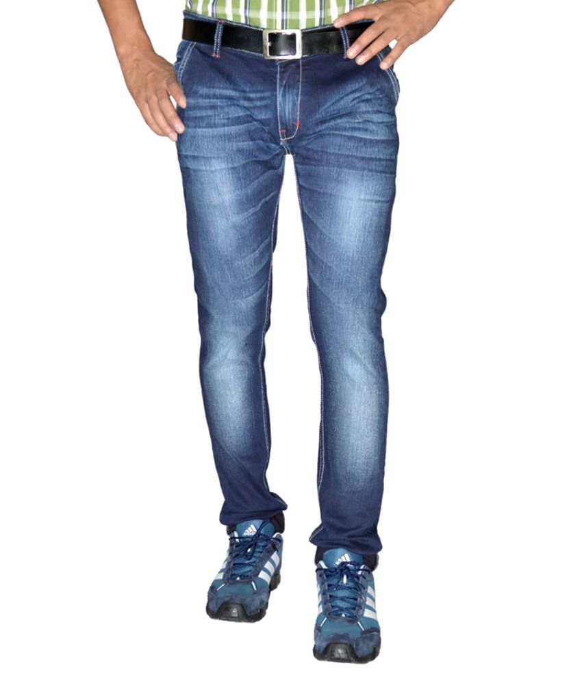Ally Of Focker Blue Cotton Blend Jeans