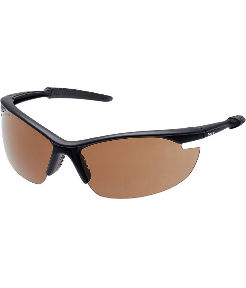Fastrack P115br2 - Brown Oval Frame Sunglasses