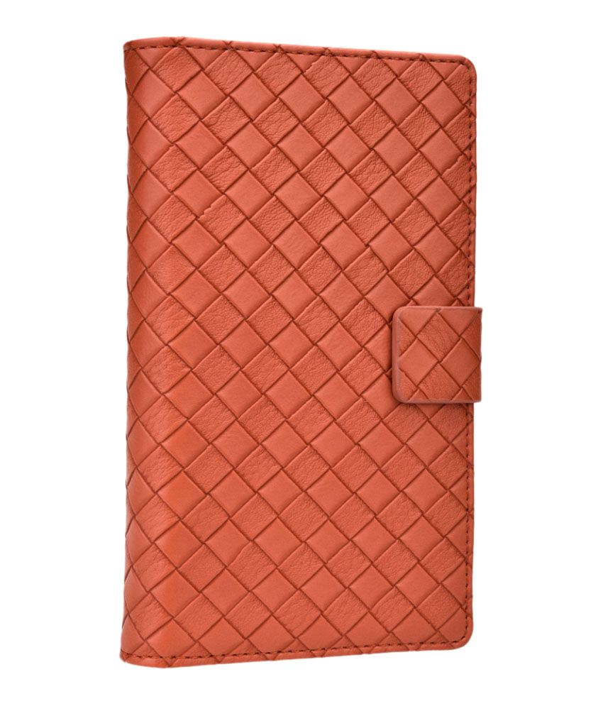 Jo Jo Bali Series Leather Flip Cover For Iball Andi 4.5z - Brown