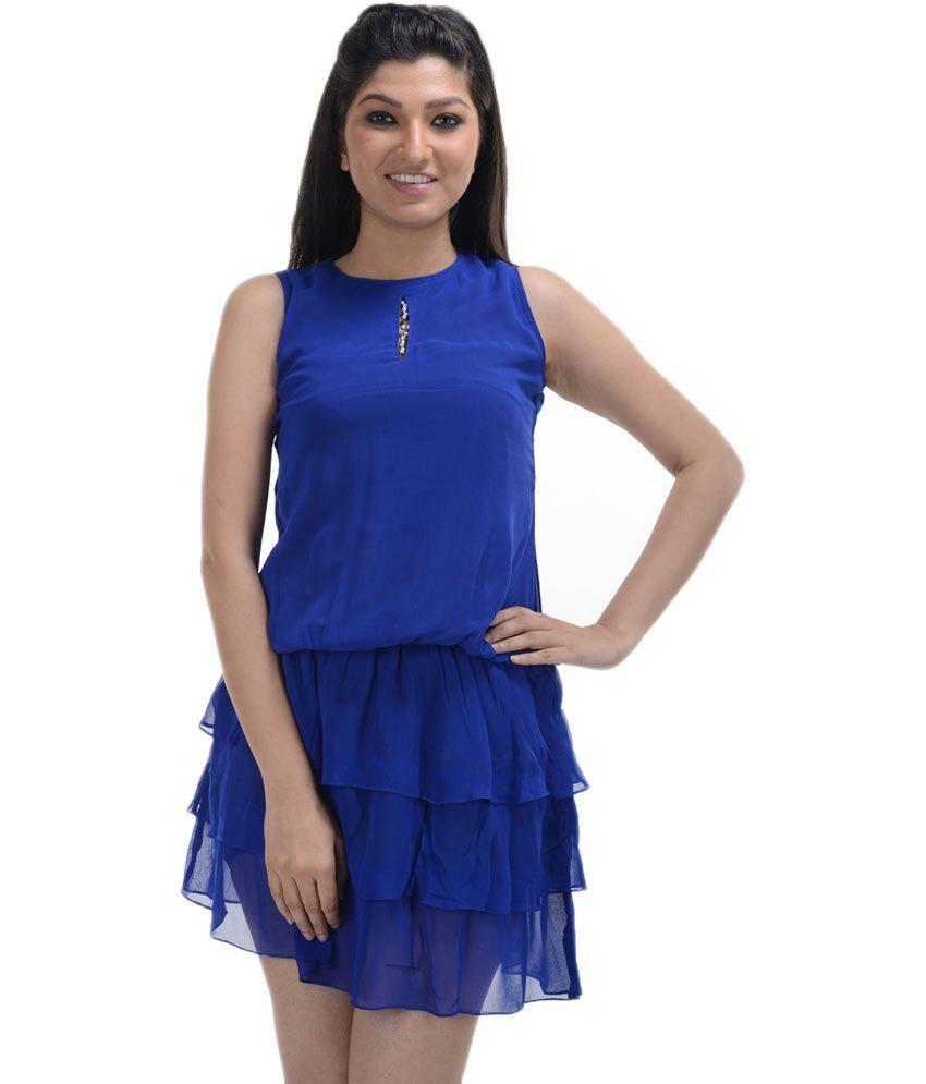 No Code Blue Georgette Dresses
