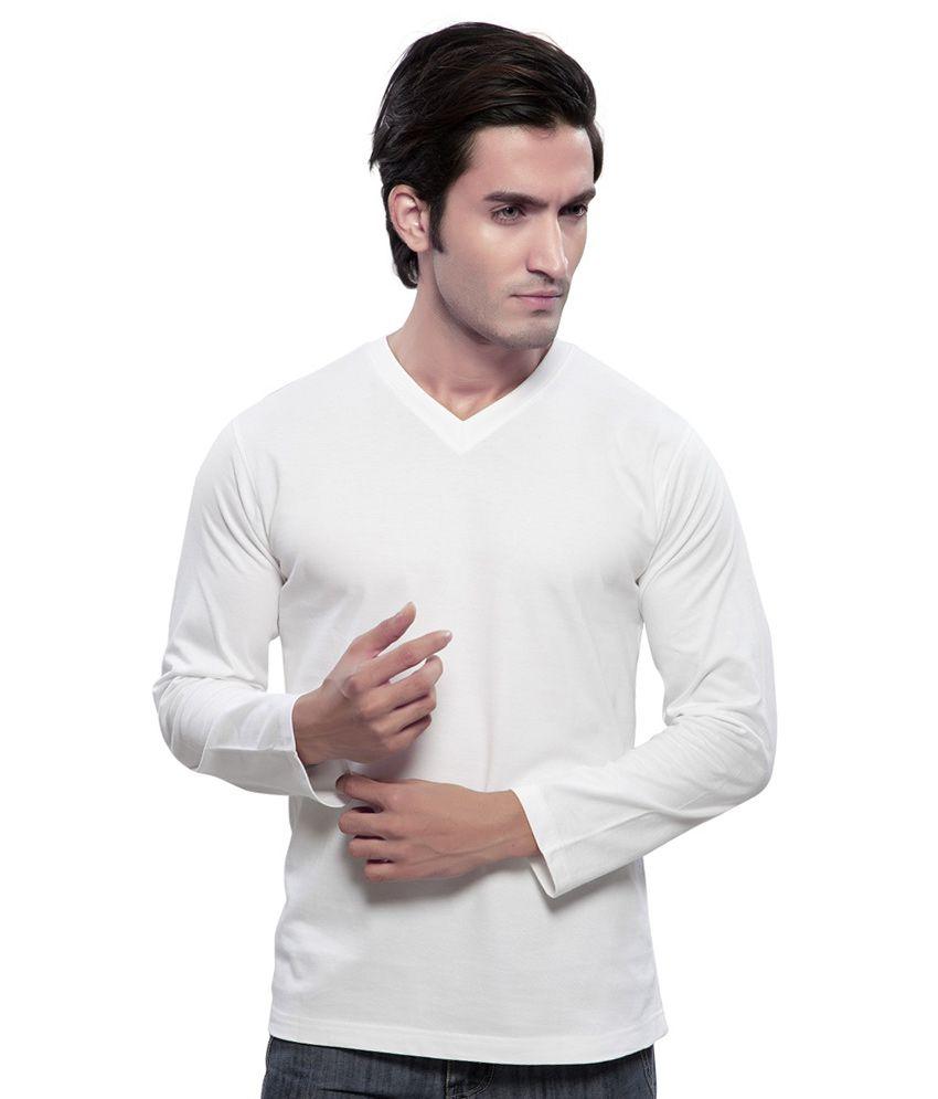 Pranav Knits White Cotton Full Sleeves V-Neck Set of 3