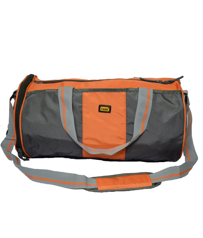 Yark Orange Polyester gear Gym Bag