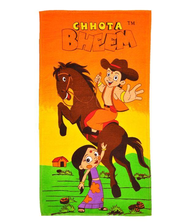 Chhota Bheem Multicolour Cotton Bath Towel