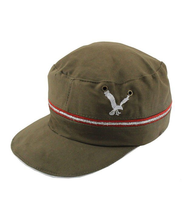 Jstarmart Gray & Red Eagle Cap For Men