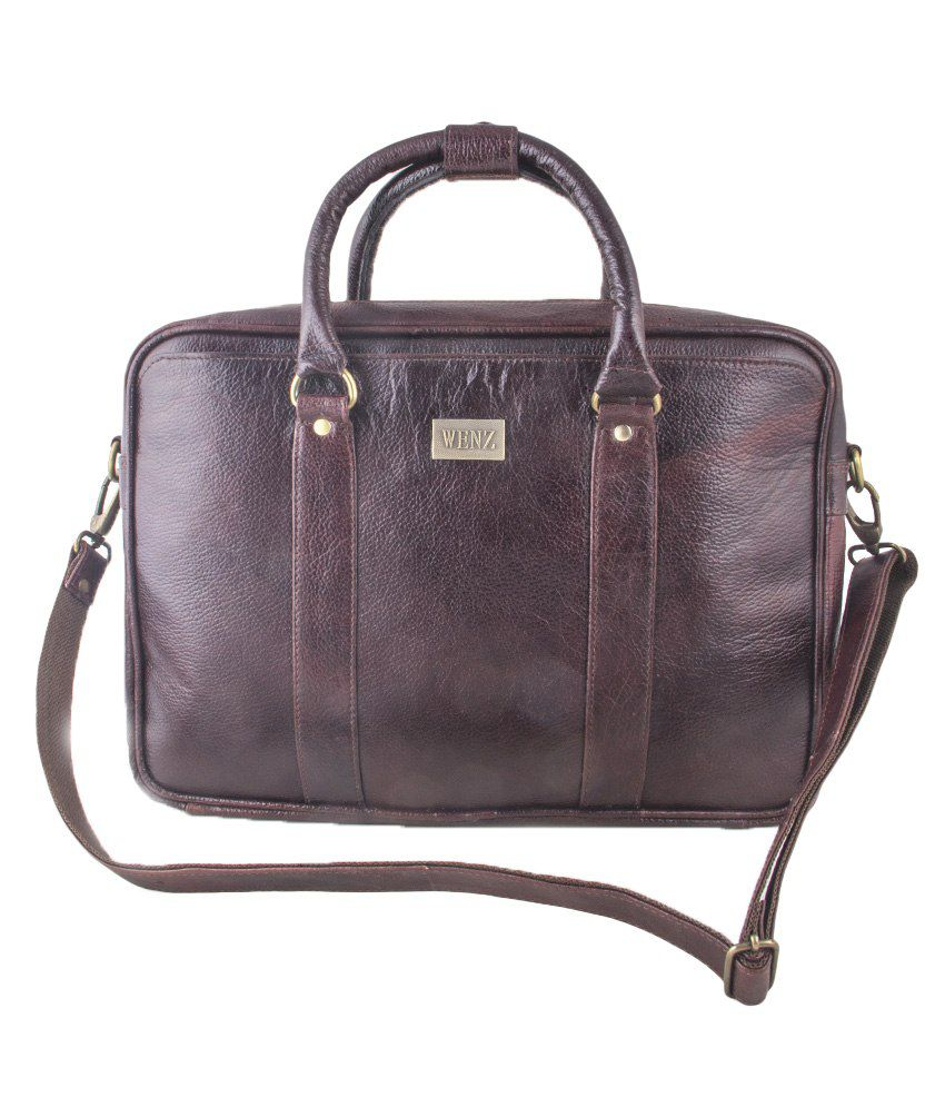 Lewos Brown Leather Shoulder Bags