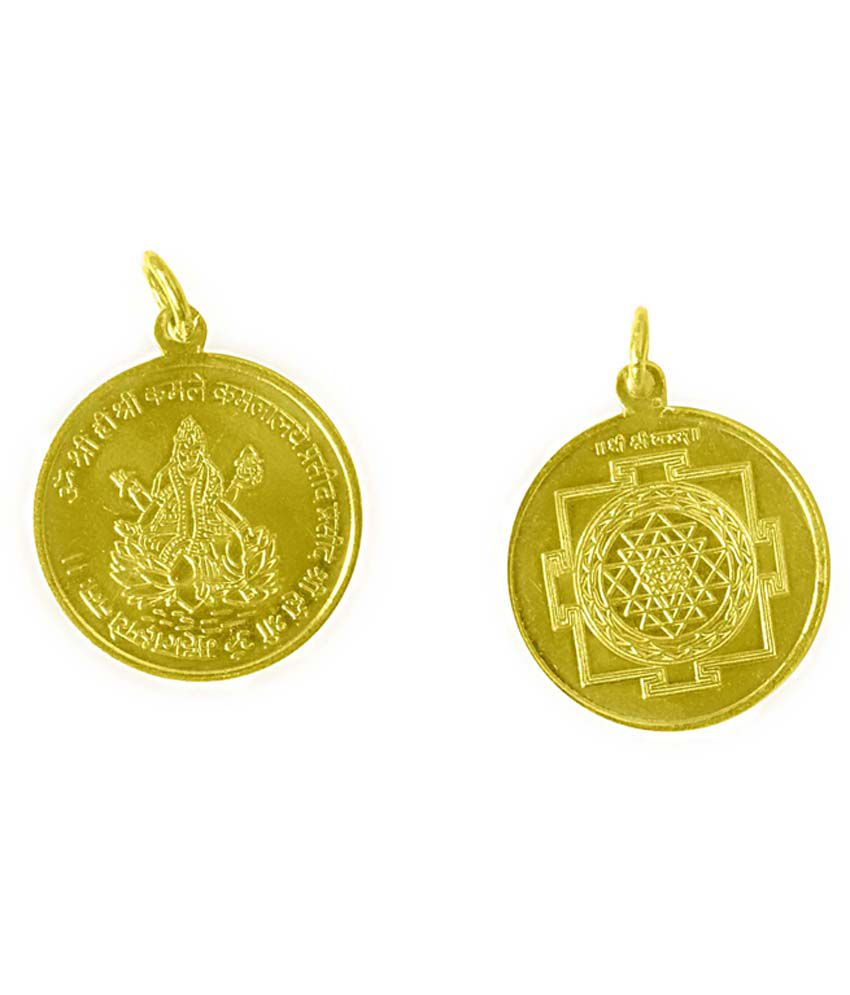 Navkaar Creation Navkaar Creation Shree Yantra Pendant In Copper Gold Plated Blessed And Energised Locket