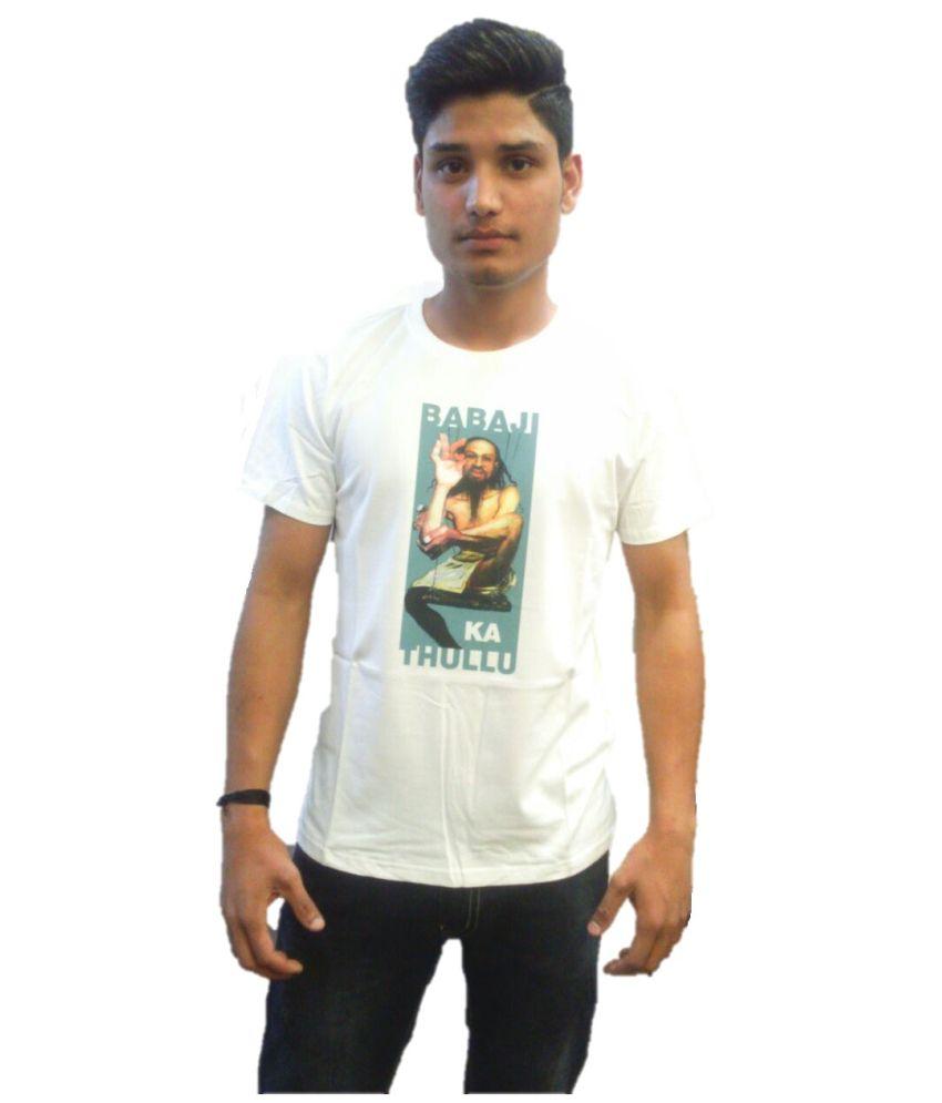 Tantra White Cotton T Shirt