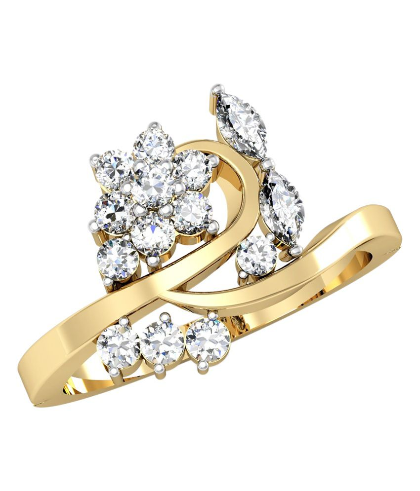 Vachya 18kt Gold Diamond Traditional Ring
