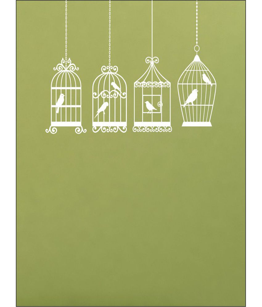 wall1ders birdcage white stickers large buy wall1ders