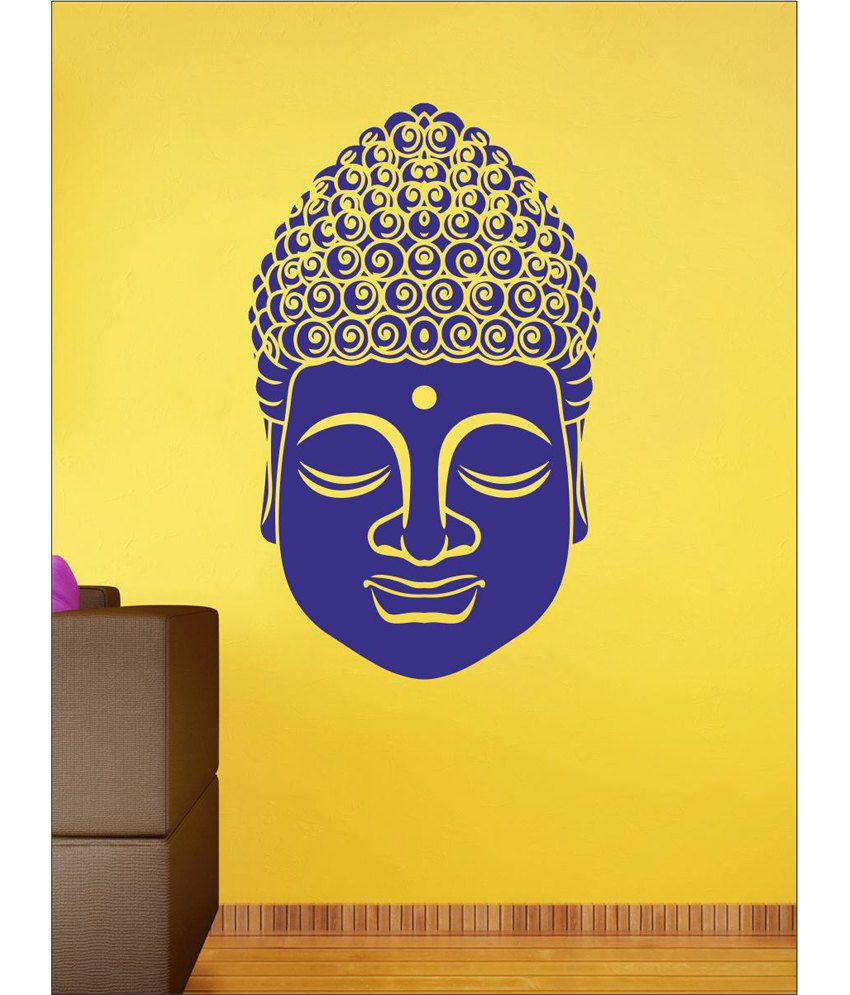 wall1ders budda face blue stickers large buy wall1ders