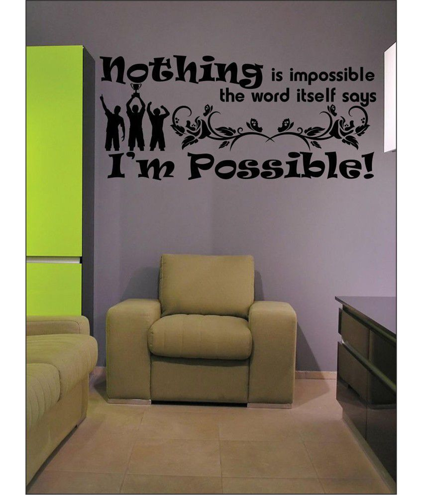 wall1ders impossible black stickers large buy