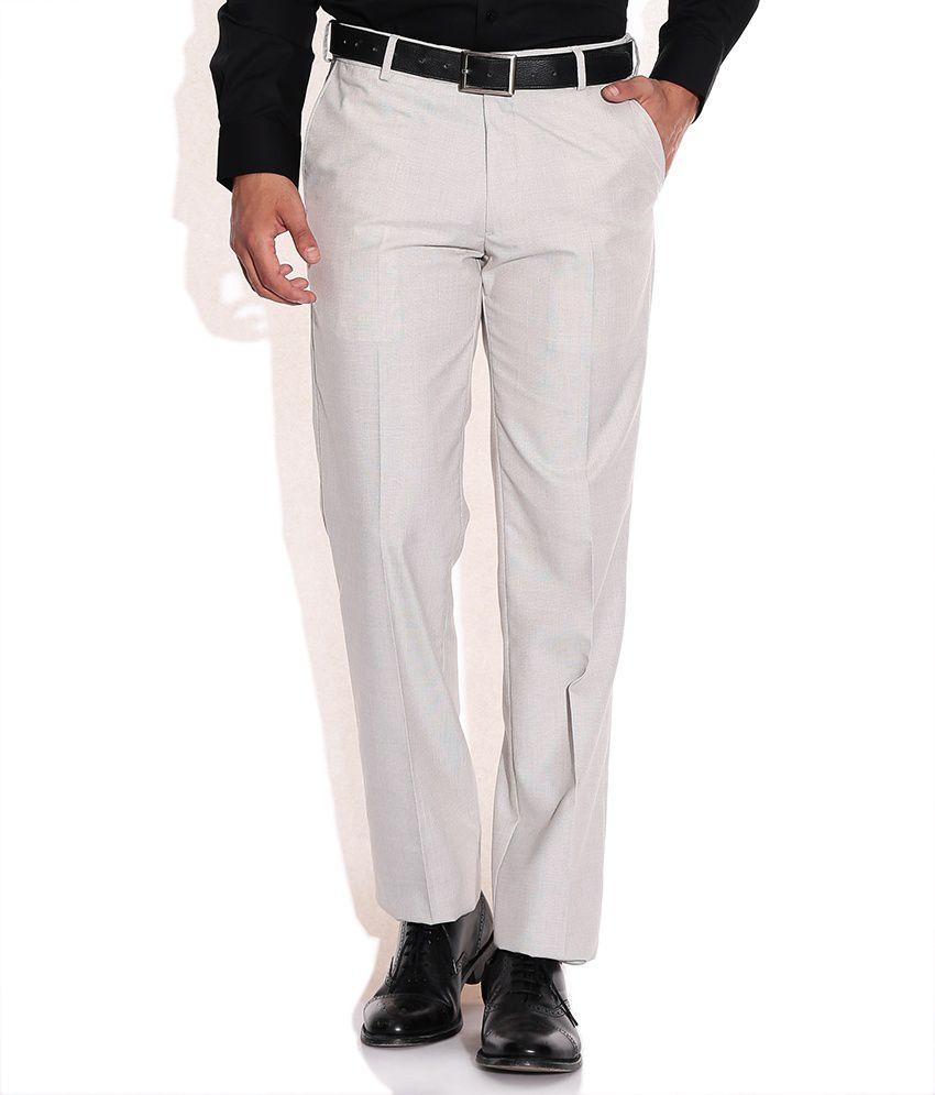 Arrow Beige Regular Fit Formal Trouser